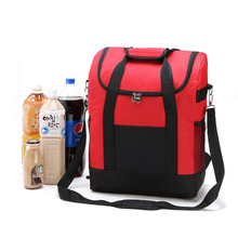 25L Large Thicken Folding Fresh Keeping Nylon Cooler Bags For Thermal Bag Insulation Ice back Pack Steak Insulation