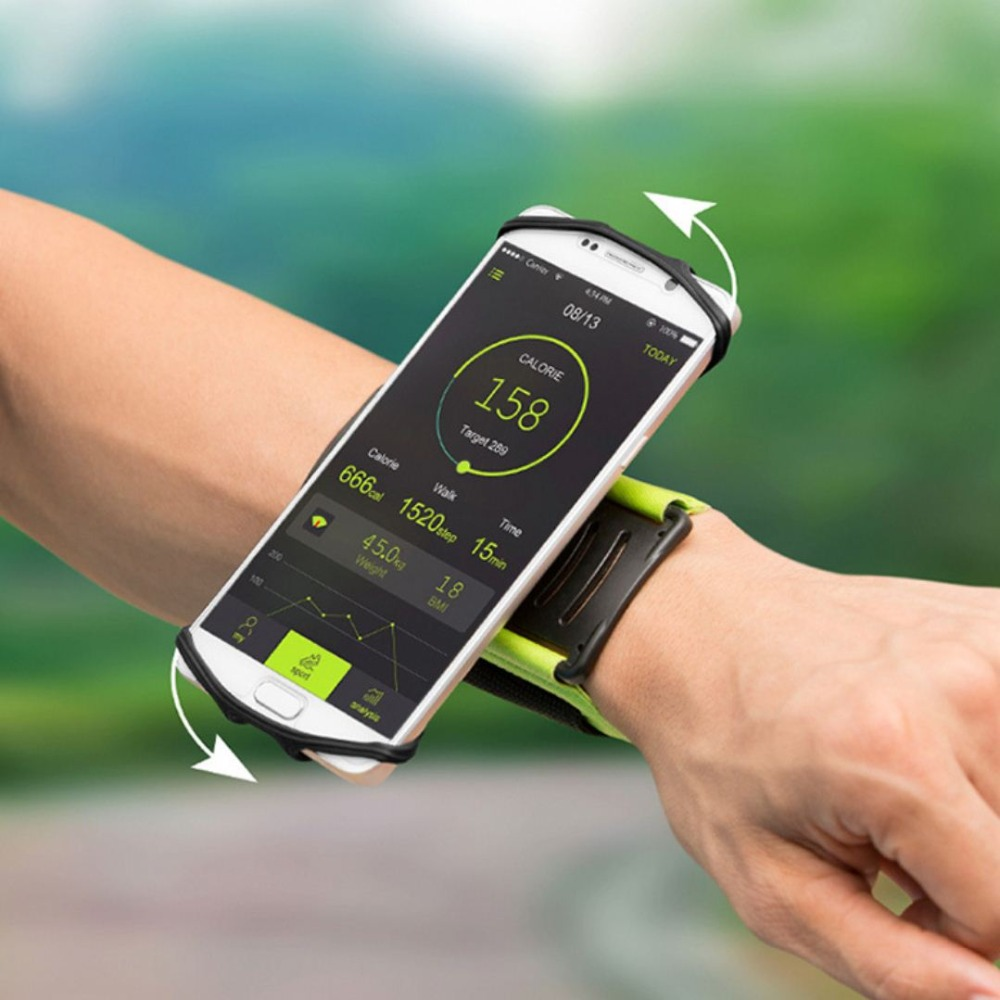 SzBlaZe Professional Rotatable Running Bag Wrist Band Arm cell phones Holder Sport pocket accessories For Gym