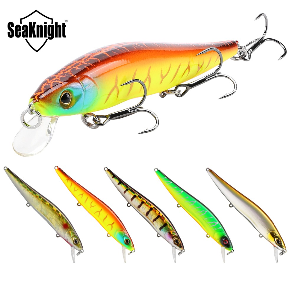 SeaKnight SK020 Fishing Lure Set 5PCS Wobbler Minnow 0-1M 14g 110mm Hard Fishing Baits Anti-corrosion Hook Carp Fishing Tackles