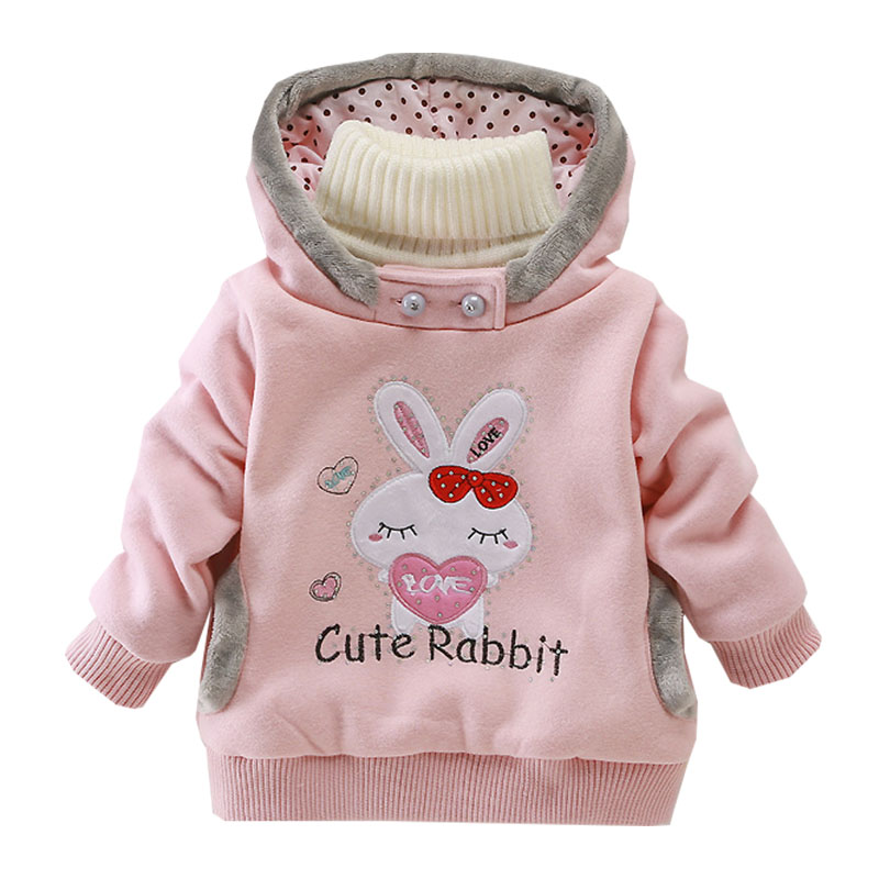 2019 Baby Girl Clothes Jacket Coat Winter High Quality Hooded Thickening Warm Guard Cartoon Embroidered1 5year Children 39 s Wear in Jackets amp Coats from Mother amp Kids