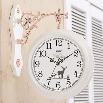Creative Double Sided Wall Clock Modern Design Silent Pow Patrol Watches Home Decor Relogio Parede European Modern Quartz 5Q326