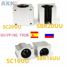 SC20UU SCS16UU SBR20UU SBR16UU 20mm 16mm linear ball bearing slide unit 20mm linear bearing block for CNC Router linear slide 16mm linear block shafts sc16uu scs16uu cnc router diy cnc parts metal linear ball bearing pellow block linear unit shafts