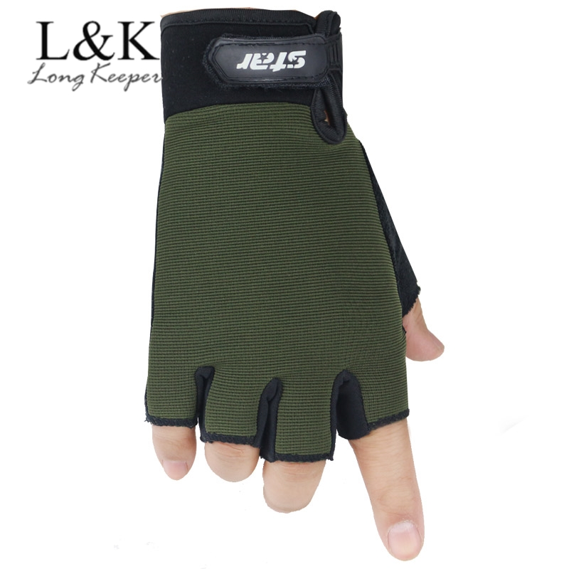 Cool Men Women Half Finger Glove Military Army Green Camo Mittens Kids Anti-skid Cycling Bike Gym Fitness Sports Gloves Luvas