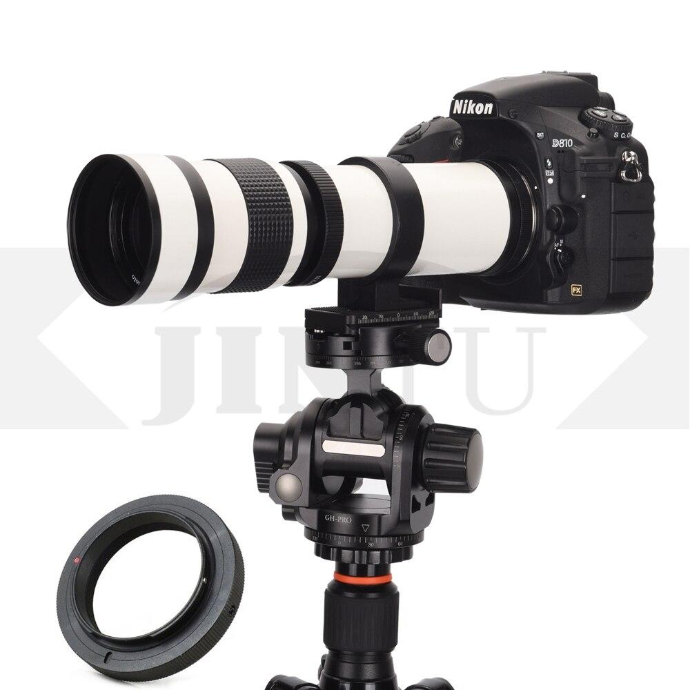 Hospitable White Jintu 420-800mm Super F/8.3-f16 Mf Telephoto Camera Lens T2 Mount For Nex E-mount Nex-3nl A7 A9 A7s A7r A6500 A6000 A6400 Be Shrewd In Money Matters