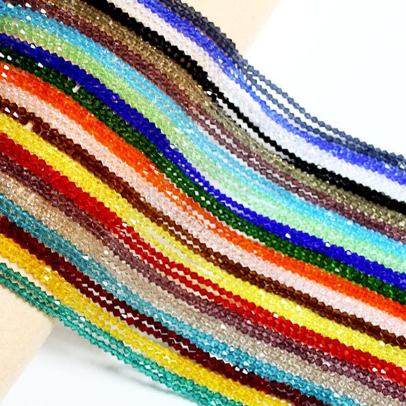 Beads & Jewelry Making Realistic Fltmrh Multicolor Seleccion 100 Piezas 4mm Bicone Austria Rebordea El Grano Flojo Del Espaciador Para La Joyeria Diy Fabricacion Refreshing And Enriching The Saliva