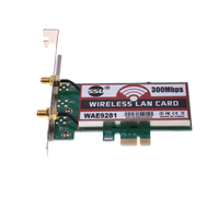 PCI Express 300Mbps Wireless WiFi Card Adapter 2 Antennas Network Card For Desktop Laptop Compatible Slot