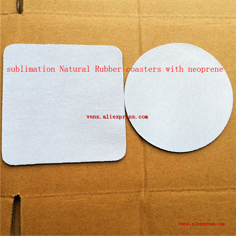 Sublimation Blank Natural Rubber Consumables With Neoprene Hot Transfer Printing Round Square Shape Rubber Diy Materials
