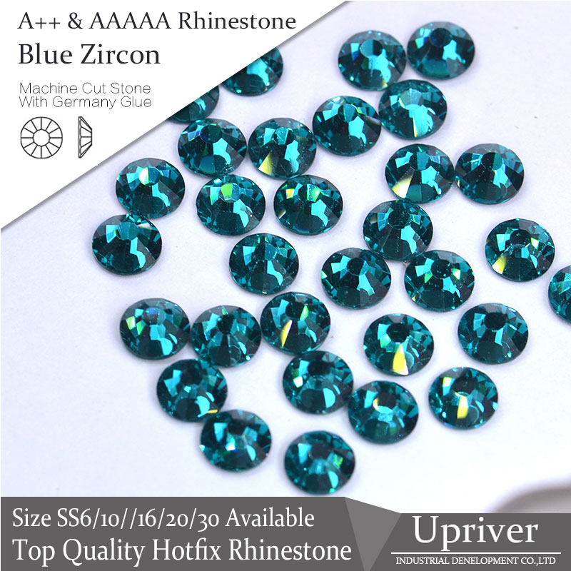 54bd6b553f US $3.54 35% OFF|Upriver A++ Bright high Quality Strass Blue zircon SS6  SS30 Hotfix Rhinestone 1440pcs/288pcs For Garment Design-in Rhinestones  from ...