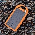 Yfw impermeable al aire libre solar power bank cargador portátil con brújula y luz led lámpara de batería externa para el iphone sumsung viajes