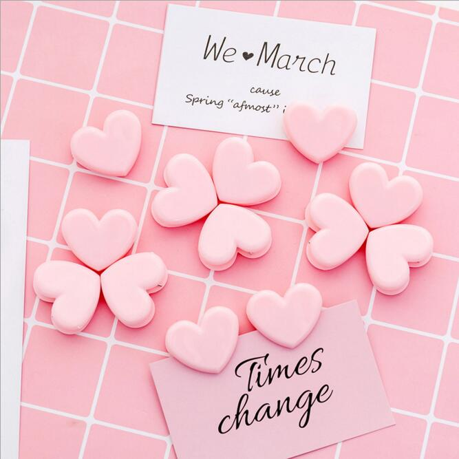10pcs/set Kawaii Korean Pink Heart Shape Paper Clip Wall Photo Card Decorative Clips Paper Organizer Stationery Gift