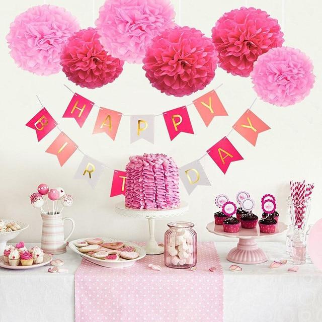 Baby Boy Girl Birthday Party Banners Happy Bunting Home Door Favors Hanger Suppliers
