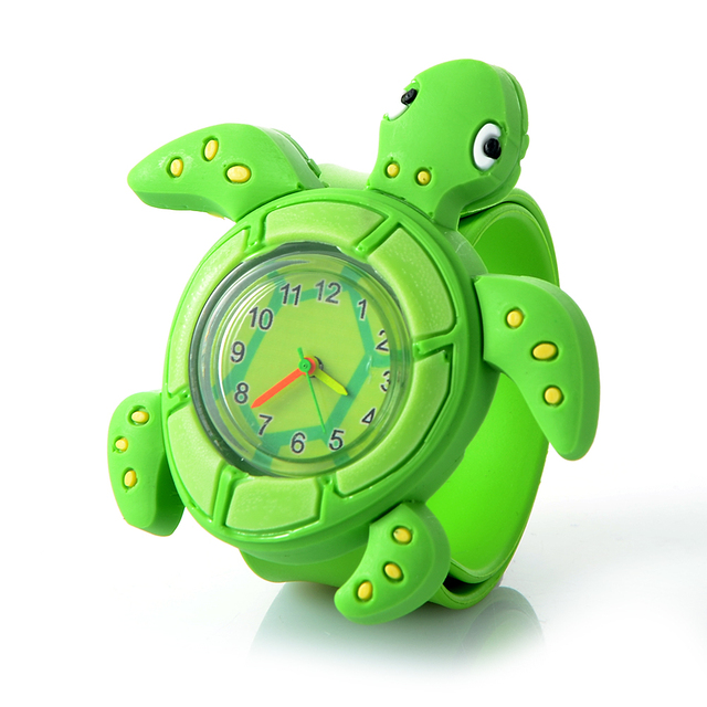 Newest 3D Children Cartoon Watch Cute Animal Frogs Children Clock Baby kid Quart