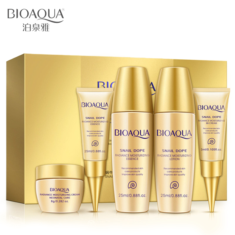18cae147a373 US $6.37 19% OFF|Face Cream Ageless Bioaqua Brand 5pcs/lot Day Cream Face  Skin Care Set Facial Essence Lotion Acid Liquid Anti Wrinkle Eye Bb-in ...