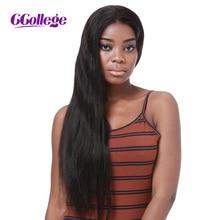 CCollege plaukai pilna nėrinių žmogaus plaukų perukai tiesus Brazilijos Remy plaukai Šveicarijos nėriniai juodoms moterims su kūdikių plauku Pristatymas