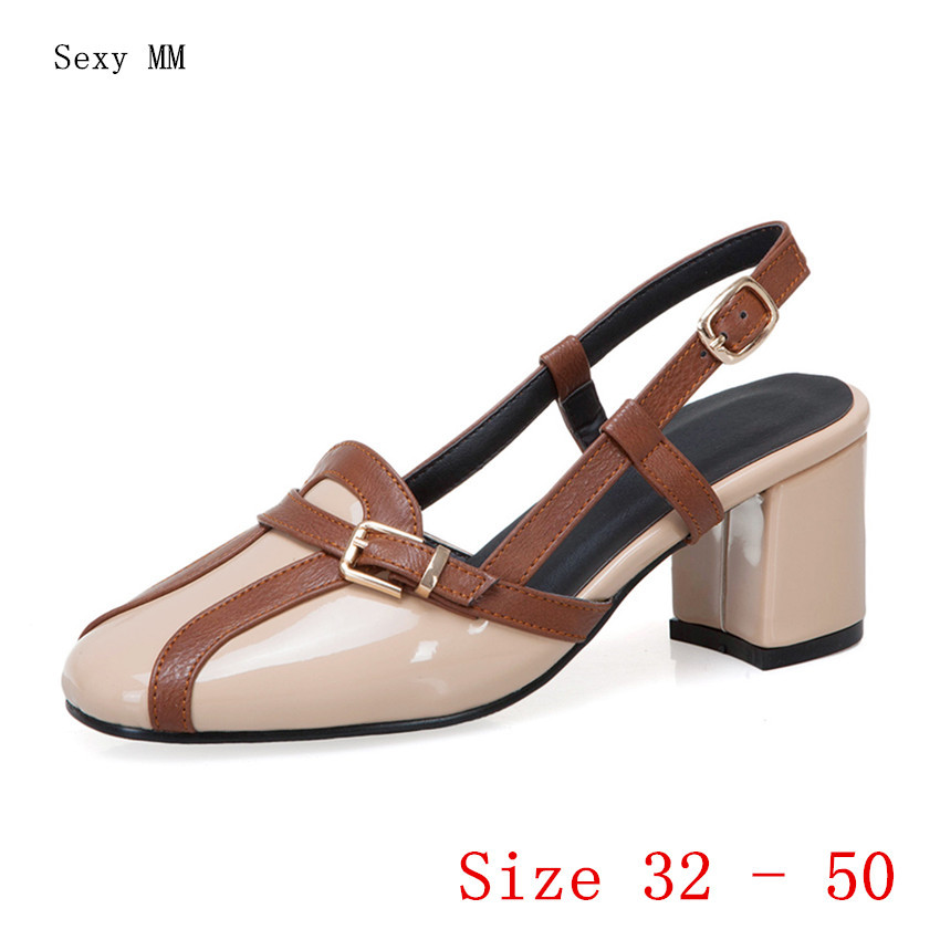 Women Low High Heel Gladiator Sandals Shoes Woman Low High Heels Pumps Small Plus Size 32 33 - 40 41 42 43 44 45 46 47 48 49 50