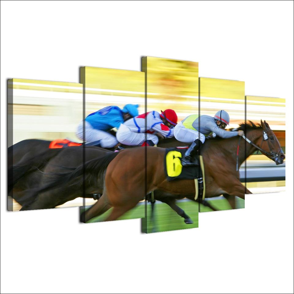 Canvas Art Fast Horse Racing Decoration