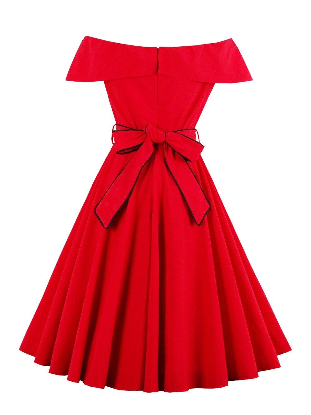 Sisjuly Women Red Dress Summer A-line Girls Slash Pullover Dress Short Sleeve Knee-Length Dresses Girl Summer Sashes Dress