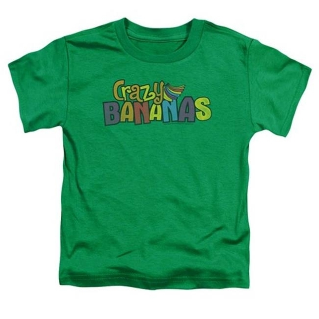 Trevco Dubble Bubble-Crazy Bananas – Short Sleeve Toddler Tee – Kelly Green Small 2T