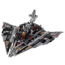 цена на 10901 Single First Order Star Destroyer Model star wars  Building Block Bricks Educational Toys 1457 Pcs
