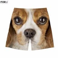 FORUDESIGNS Cute King Charles Spaniel Dog Printing Man Shorts Casual Summer Bodybuilding Shorts for Men Streatwear Mans Clothing