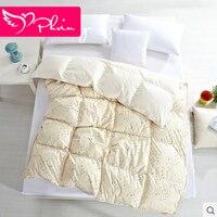 Tribute Silk Cartoon Infant Goose Down Blanket Thick Winter Comforter Brands Kids Quilts edredones colchas infantil Safe 150x200