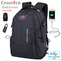 "Crossten Porto de Carregamento USB Multifuncional bolsa para laptop de 16 ""saco mochila Saco de viagem saco de Viagem Mochila Laptop Macbook com presente"