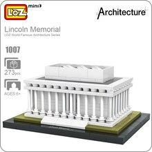 Idéias de LOZ Mini Blocos Arquitetura Lincoln Memorial Bircks Washington Mini Modelo De Construção De Plástico Brinquedo Educacional DIY Presente 1007