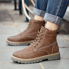 New Men Boots Fashion Men Ankle Boots Winter Men Motorcycle Boots Male Oxfords Shoes Leather Martin Boots Men's Casual Shoes mycolen new 2018 high top martin boots luxury fashion fashion leather men boots ankle motorcycle boots for male men shoe