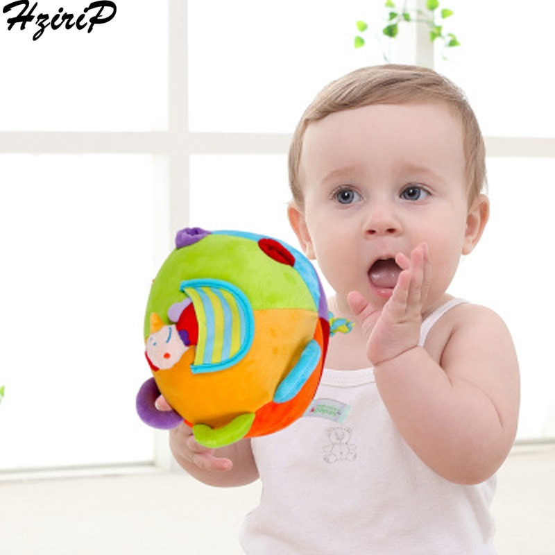 HziriP Hand Catching Baby Ball Rattle Toys Little Loud Jingle Fabric Ball Develop Intelligence Training Grasping Ability Toy