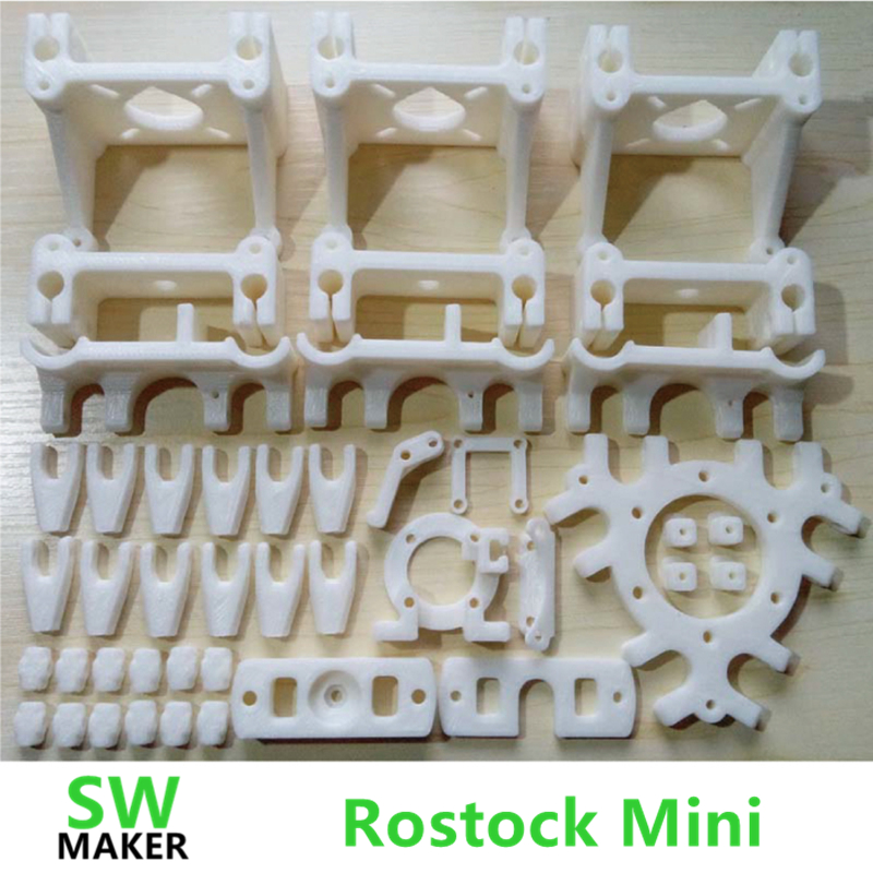 SWMAKER DIY Delta Rostock Mini 3d printer PLA plastic Parts Printed Full Kit Free shipping colorful reprap i3 rework 3d printer pla required pla plastic parts set printed parts kit mendel i3 free shipping