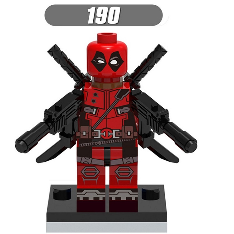Single Sale Super Heroes Star Wars X-Man Red Deadpool Weapon Building Blocks Education Toys for children Christmas Gift XH 190