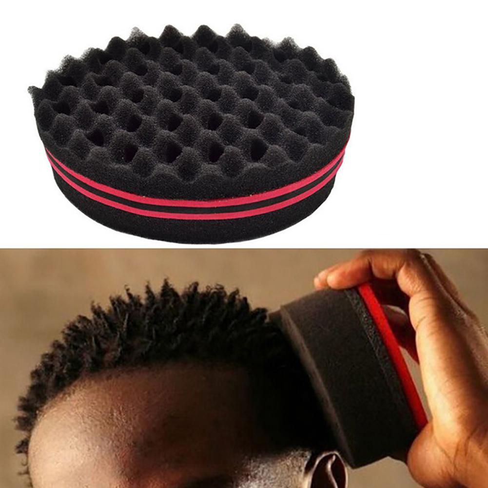 32 Holes Double Sides Design Magic Twist Hair Curl Sponge Brush Coil Wave For Natural Hair Suit For Both Men And Women