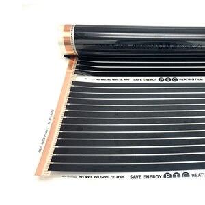Image 5 - 22M2 PTC Infrarot Carbon Heizung Folie Matte für Fußbodenheizung Fliesen Holz Linoleum Laminat Heizung mit Installation Clips Duab