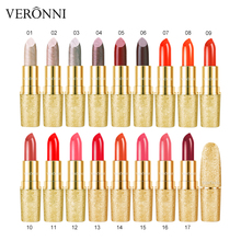 VERONNI 17 Colors Sexy Lipstick New Glitter Matte Brand Lip Stick Red Pigments Cosmetic Make Up Lipsticks Tint