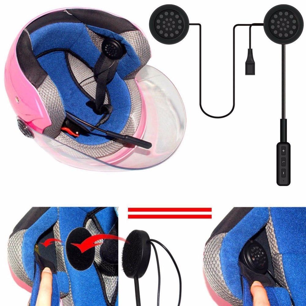 New Motor Wireless Bluetooth Headset Motorcycle Helmet Earphone Headphone Speaker Handsfree Music For MP3 MP4 Smartphone