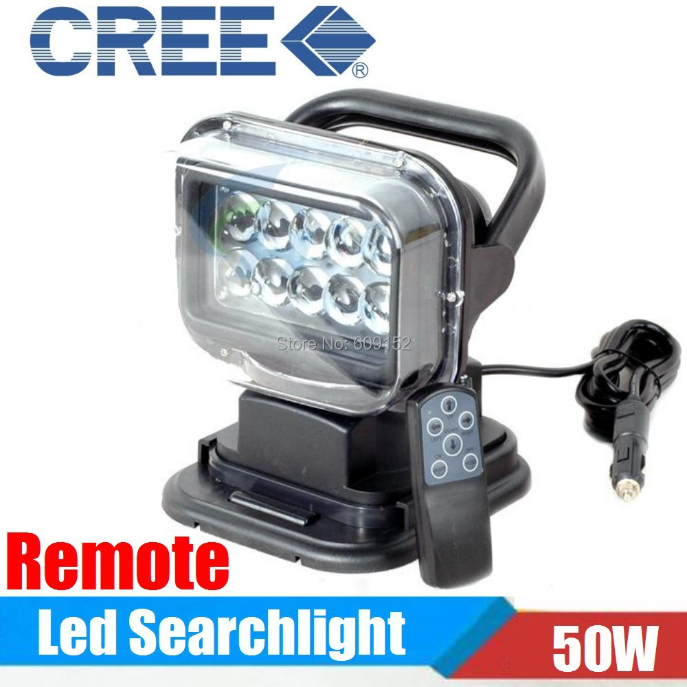50w Magnetic Led Searchlight Rf Remote Led Spot Work Light