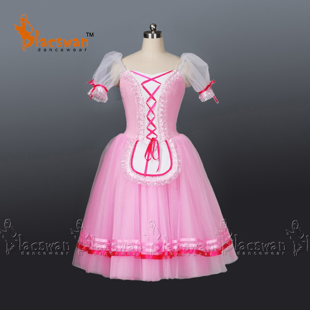 d9d9e48954fc Pink Romantic Ballet Tutu Girls Giselle Ballet Dress For Children ...