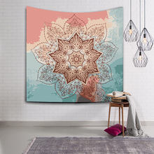 India mandala tapestry sun flower 3D print wall hanging tapestry mysterious constellation makramee psychedelic Astrolabe carpet