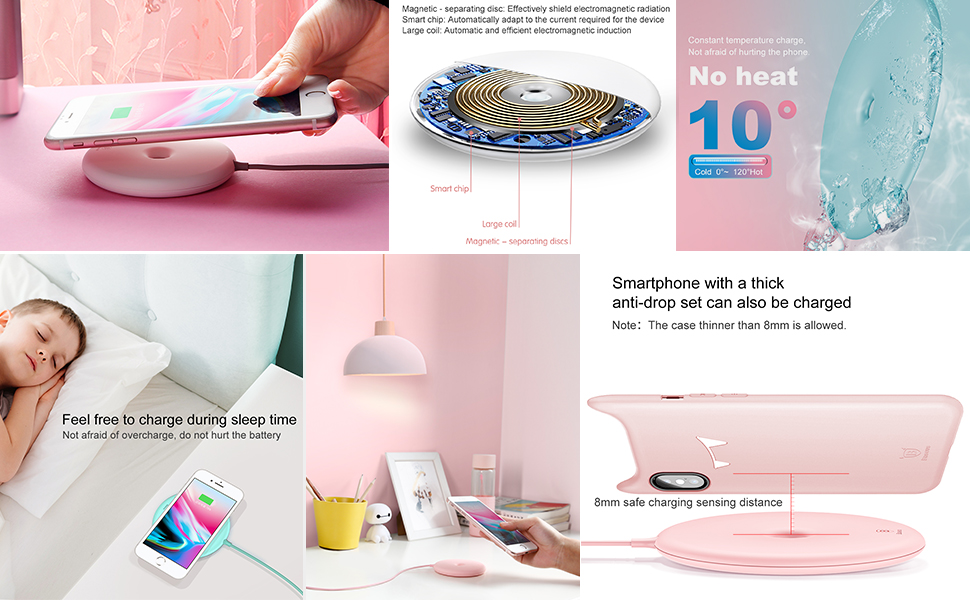 Baseus 10w Quick Charge Qi Wireless Charger For iPhone Xs Max X 8 Samsung S10 S9 Xiaomi Mi 9 Mix 3 2s Fast Wireless Charger Pad 2
