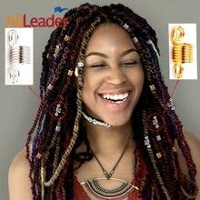 20PCS Dread Lock Dreadlocks Braiding Beads Silver Golden Metal Cuffs Hair Clips Accessories Decoration Filigree Tube Silve