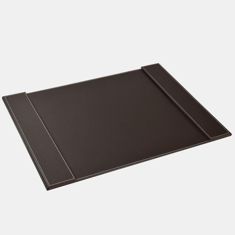 60x45 cm grand en bois en cuir bureau organisateur tableau d'écriture pad clavier tapis papier dossier double clips noir brun 236B