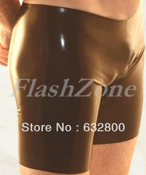 Men latex short pants