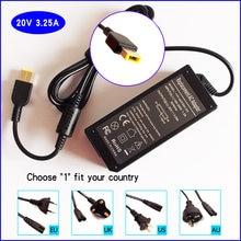 20V 3.25A Chargeur Adaptateur secteur Pour Ordinateur Portable pour Lenovo ThinkPad 20EX E475 T431s 20AA 20DF P40 Z710 80AK 20FH 20FJ 20DT P50S 20FL 20E0