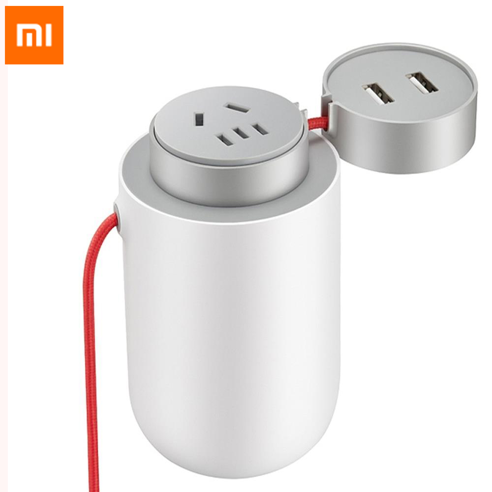 Xiaomi MiJia Protable Power Inverter 100W Dual USB Car Charger xiaomi car charger