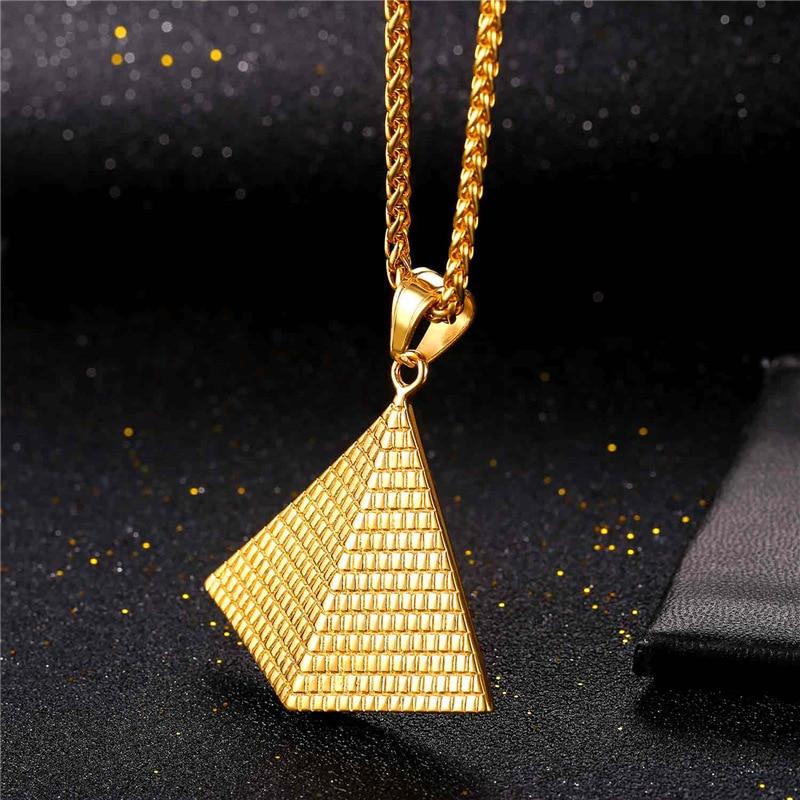 Illuminati Pyramide-Halsketten für Frauen / Männer arbeiten - Modeschmuck - Foto 2