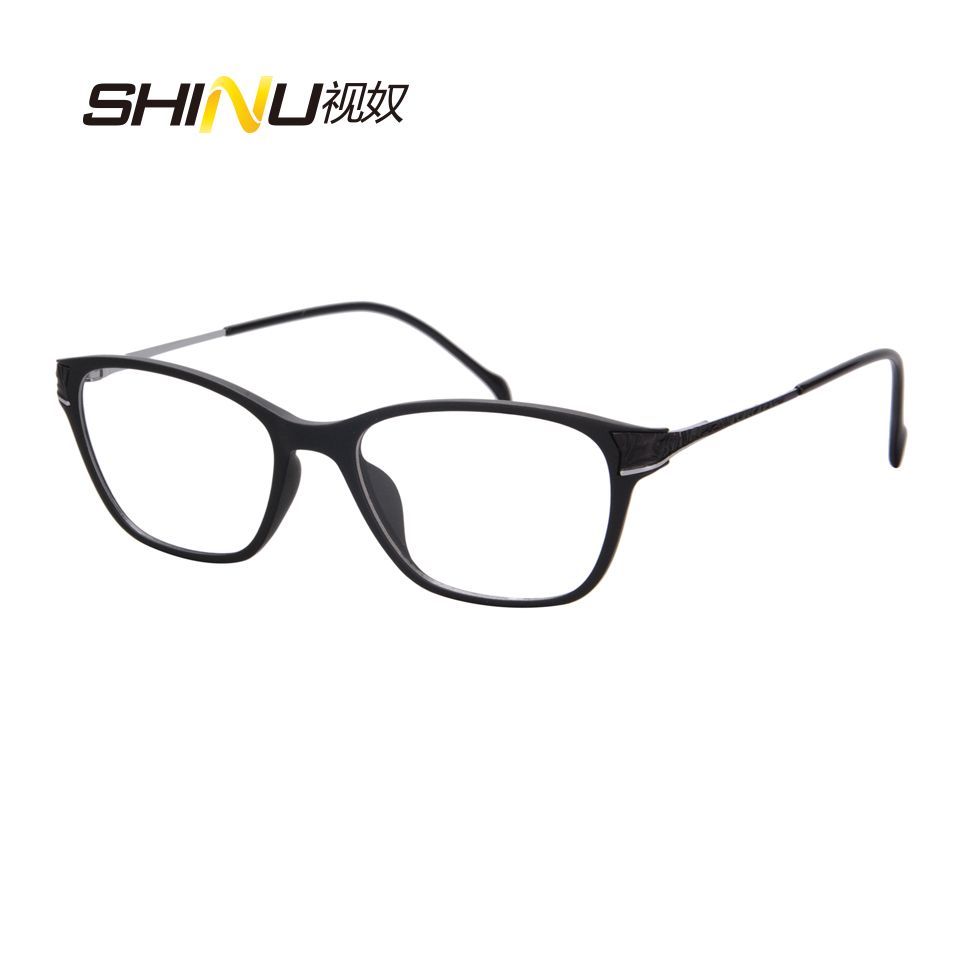 d6adc730e6b Anti Glare Computer Glasses Women Blue Frame UV400 Anti radiation Eyewear  Frame Gaming Eyeglasses Goggle Clear Lens Gafas SH058-in Eyewear Frames  from ...