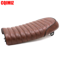Brown Vintage Motorcycle Flat Saddle Cafe Racer Seat For Honda CG125 CB125S CB200 CB350 CL350 CB400