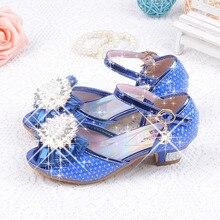 Enfants filles sandales princesse de la mode chaussures d'été à talons hauts sandales enfants filles strass parti chaussures bébé sandales