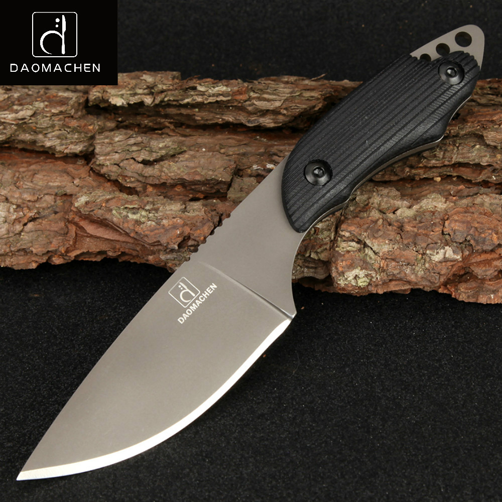 Full Tang Date Tactical Knife Survival Camping Outdoor Tools Collection Couteaux de chasse avec importé K gaine pour un cadeau