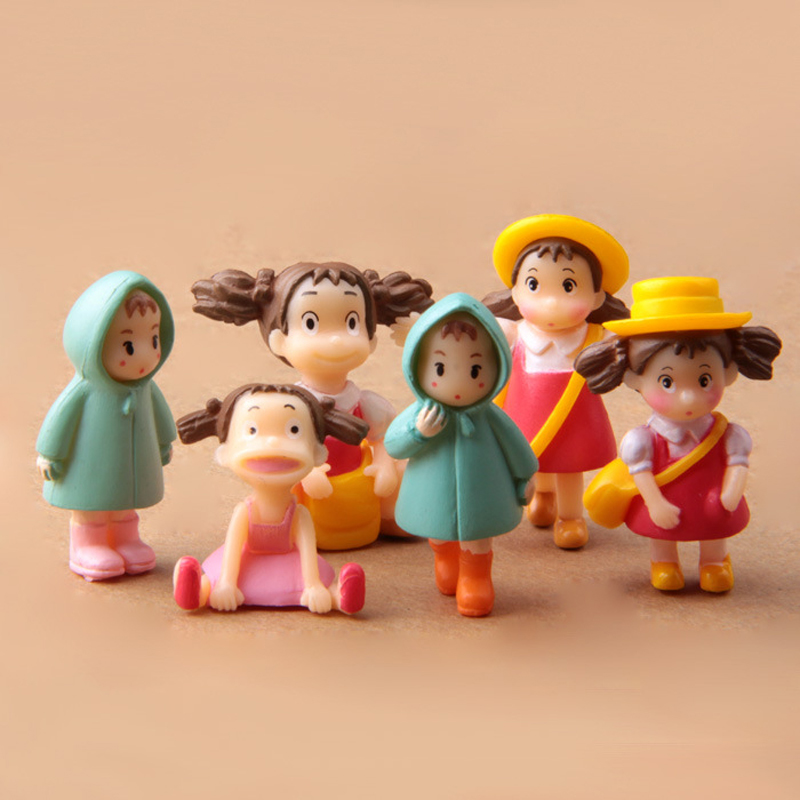 6 Style Miyazaki My Neighbor Totoro May Mini Figures Toy DIY Mei PVC Action Figure Miniature Fairy Figurines for Garden Decor